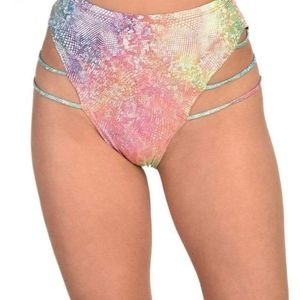 iHeartRaves Rainbow Doll Booty Shorts Rave
